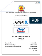 industrail training report