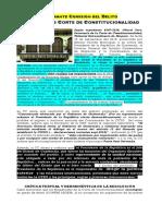 Flagrante Comisión Del Delito Por Parte de Los Magistrados Corte de Constitucionalidad