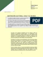 Abstención electoral en chile y el mundo
