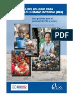 Guia Del Usario Para Desarrollo Humano Integral Dhi