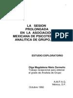 Nieto, Olga. Sesión Prolongada en AMPAG