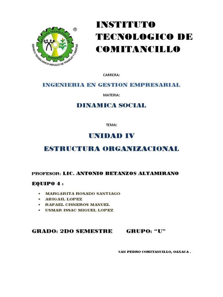 Dinamica Social Unid 4 Sem2 Docx