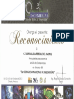 3er Congreso Nacional de Ingenierias 2012