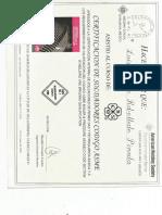 Certificado de Soldadura de Chihuahua