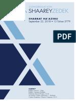 September 22, 2018 Shabbat Card