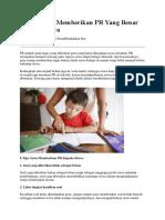 6 Tips Guru Memberikan PR Yang Benar Kepada Siswa.docx