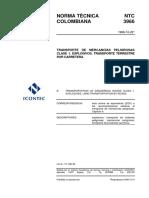 NTC3966 TRANSPOR MERCANC PELIGROSA CARRETERA LOGOS Y ASIGNACION CUPOS DIAMANTE PARA EXPLOSIVOS 311211.pdf