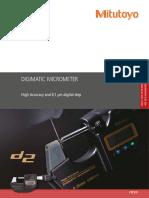 Mitutoyo - Mikrometr elektroniczny o dużej dokładności High Accuracy - PRE1491 - 2018 EN