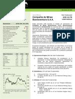 Compañias de Minas Buenaventura S.A.A. (BVN) - Actualización - VF @ USD 32.79 - Sobreponderar.pdf