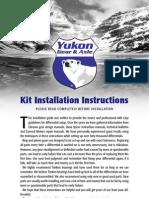 Installation Kit Instructions