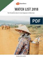 World Watch List 2018
