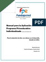 Manual programa psicoeducativo individualizado de  Mayerlin Aparcedo