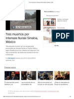 Tres Muertos Por Intensas Lluvias Sinaloa