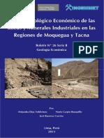 Estudio Geoeconómico Por Rocas y Minerales Industriales de Las Regiones de Moquegua y Tacna