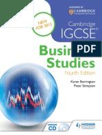 Business International GCSE Cambridge