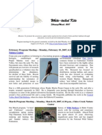 February 2007 White Tailed Kite Newsletter, Altacal Audubon Society
