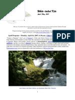 April 2007 White Tailed Kite Newsletter, Altacal Audubon Society