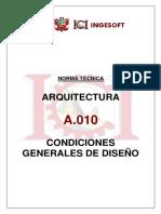 A.010 Condiciones Generalesde Diseño Ingesoft