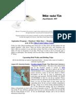 August 2007 White Tailed Kite Newsletter, Altacal Audubon Society