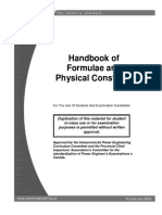 Handbook Formulae and Physical Constants