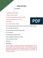 Receta portugues