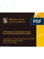ANSYS-CFD Analysis of Condensation Process Occurring Inside High Efficiency Boilers