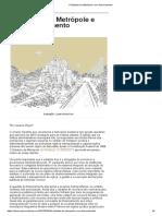 O Estatuto Da Metrópole e Seu Financiamento