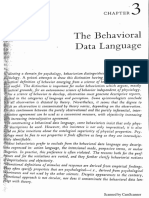 Zuriff (1985). The Behavioral Data Languaje. In Behaviorism