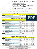 EPL Games Sept. 22-23