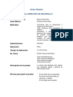 Ficha Técnica de Escala Abreviada de Desarrollo