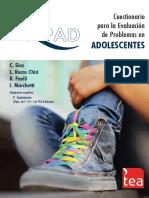 Cuestionario de Desarrollo Adolescente