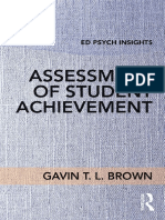[Ed Psych Insights] Gavin T. L. Brown - Assessment of Student Achievement (2017, Routledge)