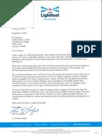 Lori Lightfoot Kalchik Letter