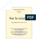 Simone Weil - Sur La Science
