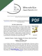 August 2010 White Tailed Kite Newsletter, Altacal Audubon Society