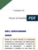 4.0 - Noções de Estabilidade