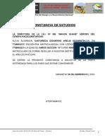 Constancia de Estudios - 2017
