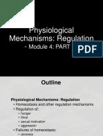 Physiological mechanism of regulation