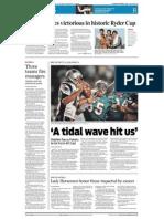 "Sports- ""A tidal wave hit us"""