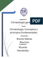 Climatología, Conceptos y Principios Fundamentales Braulio