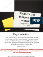 Factores Que Influyen en El Mercado. (1)