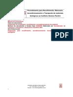 Procedimento Para Recolhimento, Manuseio, Acondicionamento e Transporte de Materiais Biologicos Ao IHP