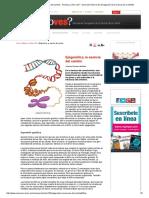 Epigenética, La Esencia Del Cambio - Revista ¿Cómo Ves_ - Dirección General de Divulgación de La Ciencia de La UNAM