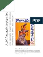 GARCIA - A Folclorização Do Popular Anos 50
