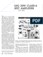 The Lang 20W Class-A Mosfet Amplifier