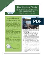 May 2010 Western Grebe, Redbud Audubon Society