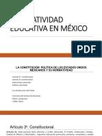 1. Normatividad Educativa en México