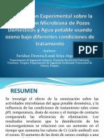Investigación Experimental Sobre La Inactivación Microbiana de Pozos