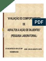 Avaliação Do Comportamento de Asfaltos à Ação de Diluentes (1)