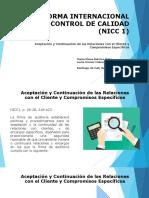 Aceptación y Continuación de Las Relaciones Con El Cliente y Compromisos Específicos
